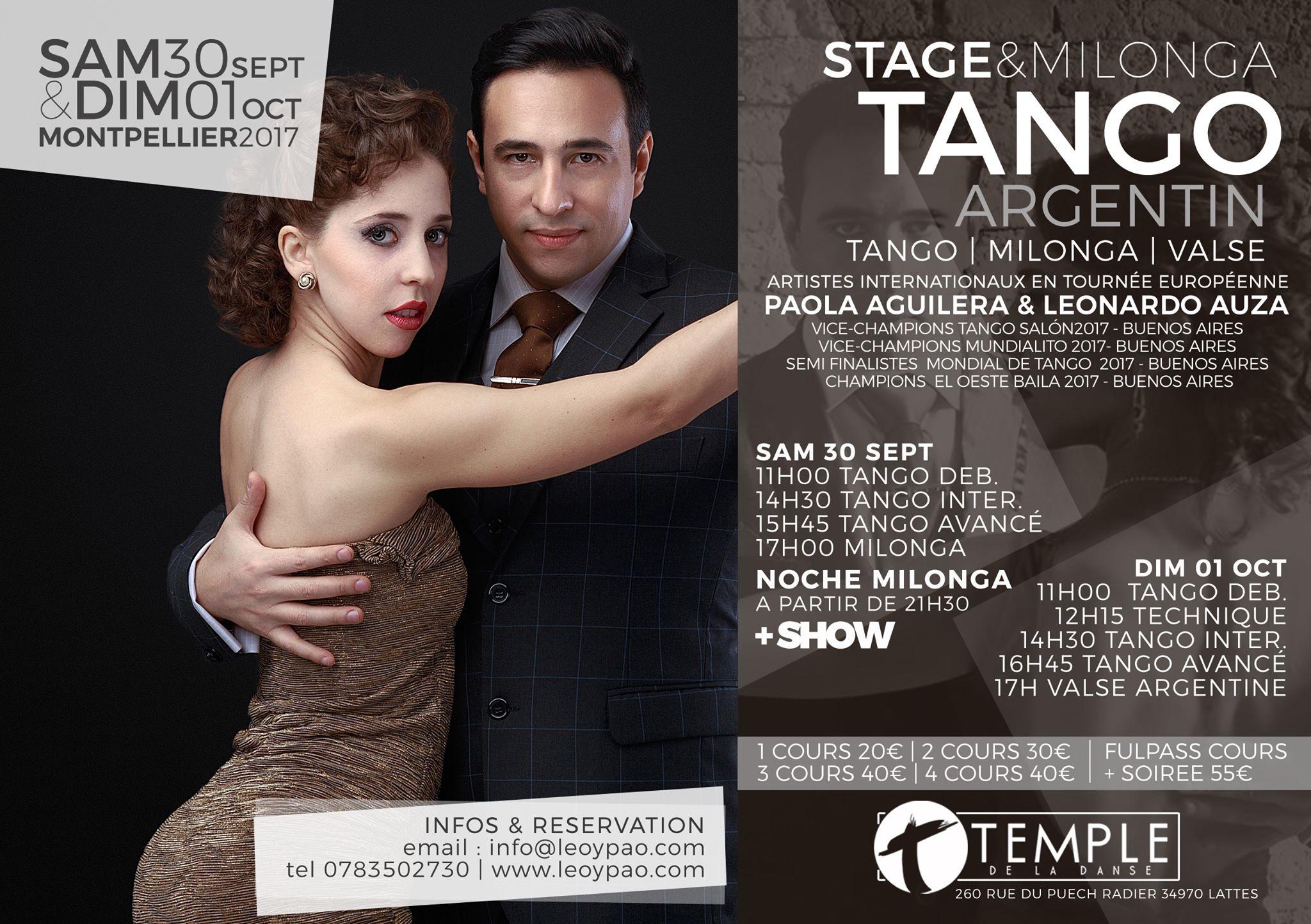 Stage Tango au Temple de La Danse