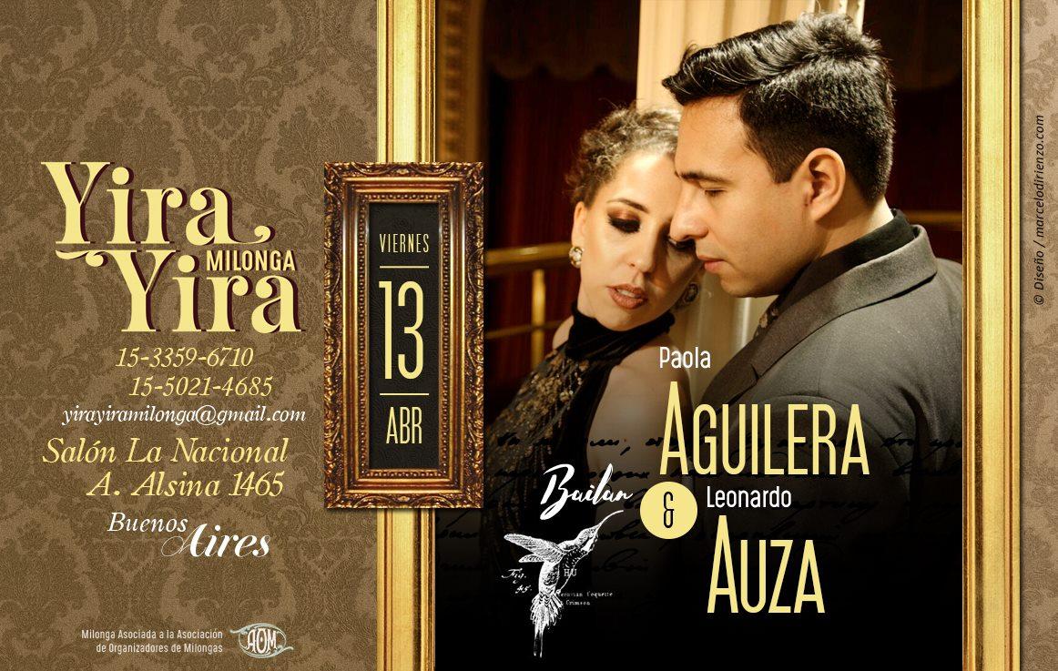 Exhibición en Yira Yira, milonga de Buenos Aires
